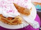 Рецепта Лесна торта с кроасани и ванилов крем